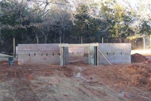 The foundational walls for the frame to be constructed upon.