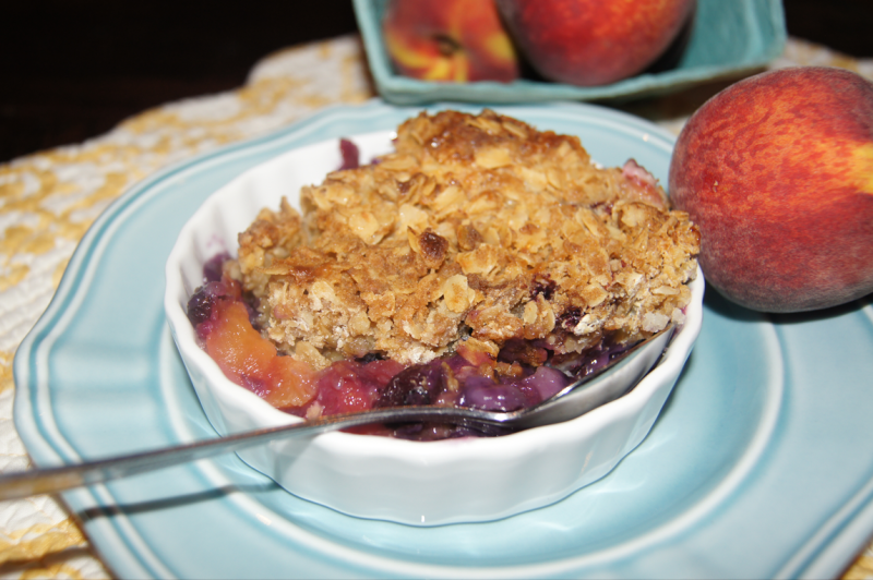 Peach Blueberry Cobbler Crisp Garden Soiree