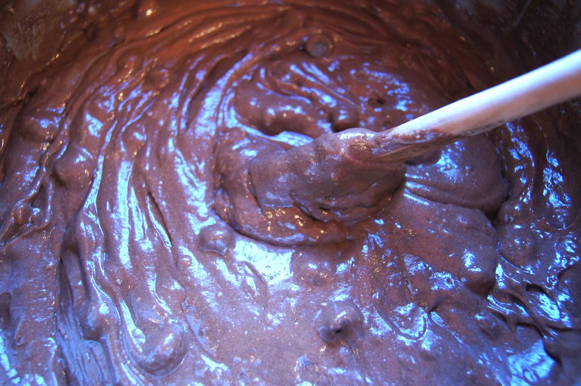 Chocolate-cake-batter